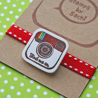Find me on Instagram -Shrink Plastic Brooch-