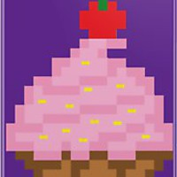 8-Bit Cupcake iPhone  iPod Cases