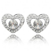 Fashion Crystal Heart Shaped Earring Earstud HYC0043 - $10.01