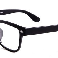 Fabrice Eyeglasses with Black Acetate Aviator Full Frame/Rim Frame