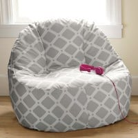 Trellis Gray Leanback Lounger