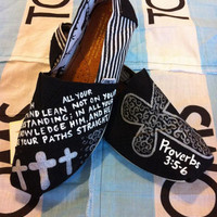 Custom Hand Painted Bible Verse Toms