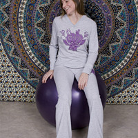 It's All Good Yoga Long Sleeve Hoody: Soul-Flower Online Store