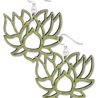 Lotus on the Lake Earrings: Soul-Flower Online Store