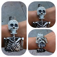 Skull Body Cuff Silver