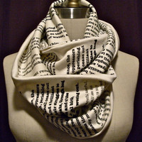 Wrap Up With A Good Book Scarf by storiart on Etsy