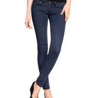 H&M - Super Skinny Super Low Jeans - Dark denim blue - Ladies