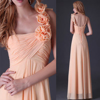 Women Gown Evening Bridesmaid Cocktail Wedding Dresses NWT formal prom long Gown