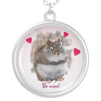 Sweet Squirrel Valentine Pendant from Zazzle.com
