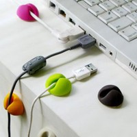 Amazon.com: Multi-purpose Cable Clips, Multiple Color Options, Great Value, 6pcs/package: Cell Phones & Accessories
