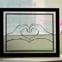 Heart Hands - Handmade Hand-Cut Paper Art Silhouette