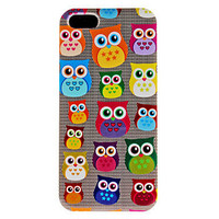 Cute Owl Pattern iPhone 5 Case