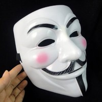 Amazon.com: V for Vendetta Masks Halloween Masquerade Carnival Full Face Party Mask Adult Size 12pcs: Toys & Games