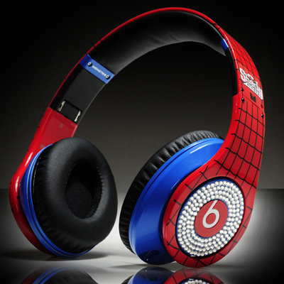 Monster Beats By Dr. Dre Studio Diamond Headphones Spiderman For Justin Bieber Limited Edition 100% AUTHENTIC