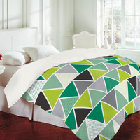 DENY Designs Home Accessories | Heather Dutton Emerald Triangulum Duvet Cover