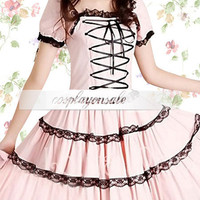 Cotton Pink Front Tie Sweet Lolita Dress [T110856] - $73.00 : Cosplay, Cosplay Costumes, Lolita Dress, Sweet Lolita