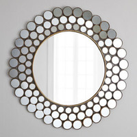 """Mirrored Circles"" Accent Mirror - Horchow"