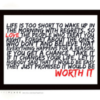 Life Is Too Short - Harvey MacKay Quote - Typography Poster - Inspirational Quotes/LOVE - A4 / 11.7 x 8.3 inches