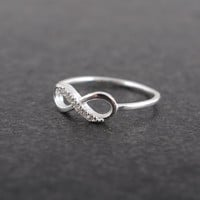 Infinity Sterling Silver Ring by bkandjio on Etsy