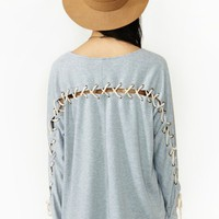 Lace Case Tee - Gray