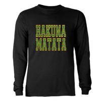 Amazon.com: Hakuna Matata Africa Long Sleeve Dark T-Shirt by CafePress: Clothing