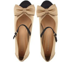 Moxsie.com - Maryjane Bow Flat Beige - Marais USA - Polyvore