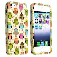 Amazon.com: eForCity Snap-on Rubber Coated Case Compatible with Apple® iPhone® 5, Fancy Owls: Cell Phones & Accessories