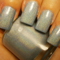 Blue Sterling -  Holo Butter Nail Polish - Full Size Bottle
