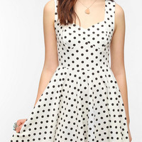 Pins and Needles Knit Polka Dot Dress