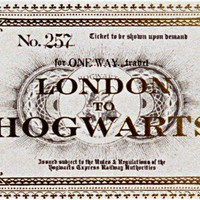 London to Hogwarts ticket