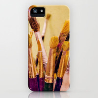 Paintbrushes iPhone Case by Around the Island (Robin Epstein) | Society6