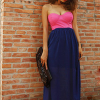 Color Block Maxi Dress from CATPRINCESS CLOTHING