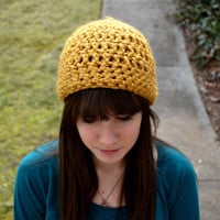 Mustard Yellow Crocheted Hat