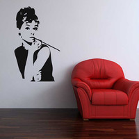 Audrey Hepburn legend wall sticker decorative by 60SecondMakeover