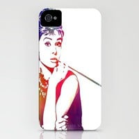 Audrey Hepburn Breakfast at Tiffany&#x27;s iPhone Case by D77 The DigArtisT | Society6