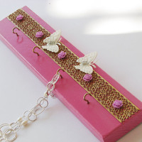 Gold necklace holder, Jewelry Hanger , is the best gift for the bride, gift ideas or gift for home.