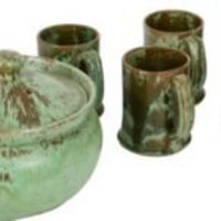 One Kings Lane - Wells Antiques - A. R. Cole Casserole  Mugs, 7 Pieces