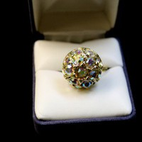 Fashion Bling Button Ring