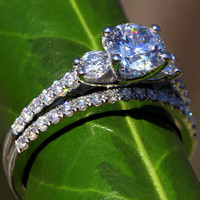 Solid PLATINUM  Round Diamond Engagement Ring by BeautifulPetra