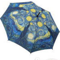 Van Gogh Starry Night Painting Umbrella - Unique Vintage - Cocktail, Evening &amp; Pinup Dresses