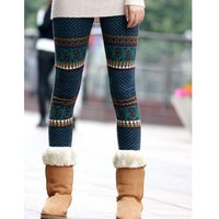 Color Block Fun Print legging in Blue
