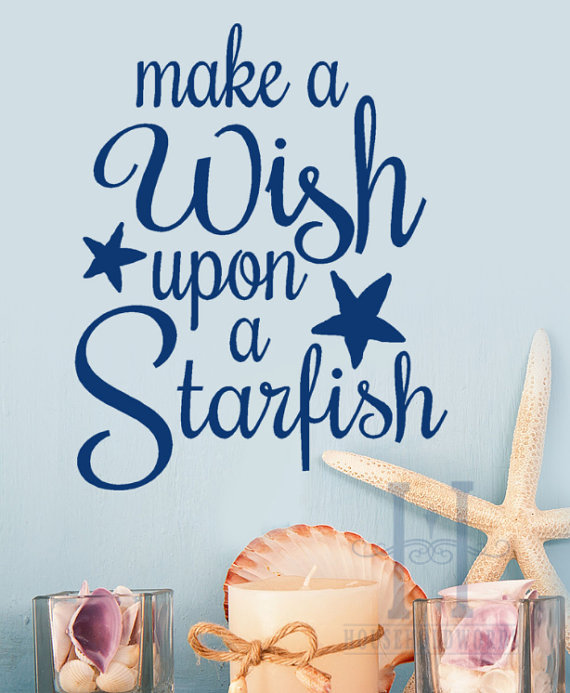 Beach Decor Wall Decal words Make a wish from