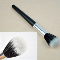 Powder Blush Brush Makeup Cosmetic Fiber Foundation Stipple Black HOT SALE S0BZ