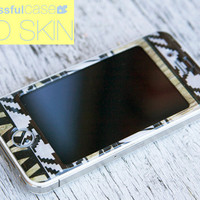 iphone skin - 3D Gel skin with White Aztec