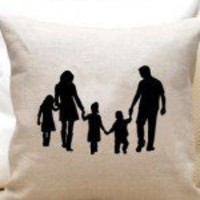 Customized Gifts For the Holidays SILHOUETTE PILLOW - $50 ? Green Holiday Gift Guide