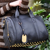 Studded Messenger Tote