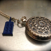 Doctor Who Inspired TARDIS Charmed Timey Wimey by urbanindustries