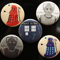 Doctor Who MAGNET Set  scifi MAGNETS  Tardis  by comradecards