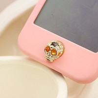 Skull Home Button Sticker for iPhone 4,4s,5 from LOOBACK