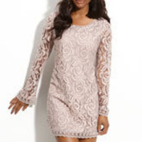 Fire Lace Shift Dress (Juniors) | Nordstrom